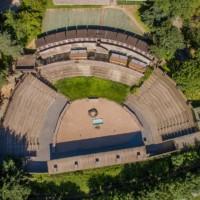 amphithéâtre parc de courzieu rhône vue du ciel